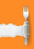 Предпосылка ресторана меню Стоковое Изображение