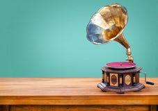 Предпосылка ретро радиоприемника винтажная зеленая Стоковая Фотография