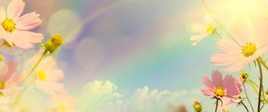 Предпосылка ретро стиля искусства флористическая Стоковые Фотографии RF