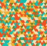 Предпосылка ретро треугольников яркая Стоковое фото RF