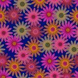 предпосылка рисуя вектор флористических цветков безшовный Стоковые Фотографии RF