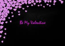 Предпосылка рогульки приглашения партии дня валентинок карточки дня валентинок Стоковые Фотографии RF
