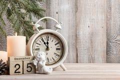 Предпосылка Рожденственской ночи Стоковые Фото