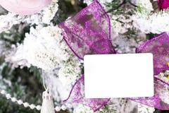 Предпосылка рождества абстрактная с шаблоном карточки Стоковые Изображения RF