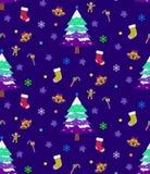 Предпосылка рождества безшовная Стоковые Фотографии RF