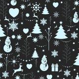 Предпосылка рождества, безшовный tiling, большой выбор для оборачивать Стоковое фото RF