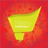 Предпосылка рождества вектора красная флористическая с смычком Стоковые Изображения