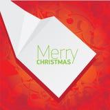 Предпосылка рождества вектора красная флористическая Стоковые Фото