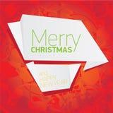 Предпосылка рождества вектора красная флористическая Стоковая Фотография RF