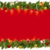Предпосылка рождества вектора с гирляндой Стоковые Изображения