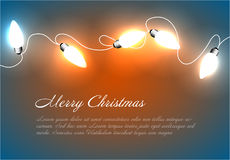 Предпосылка рождества вектора с цепными светами Стоковое Изображение RF