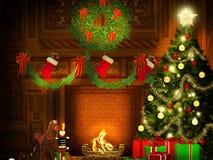 Предпосылка рождества в винтажном стиле Стоковая Фотография