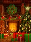 Предпосылка рождества в винтажном стиле Стоковые Изображения