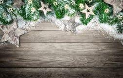 Предпосылка рождества в элегантном естественном стиле Стоковые Изображения