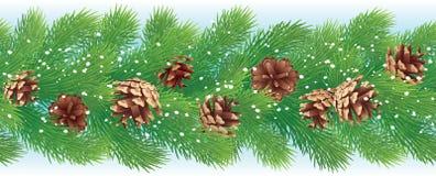 Предпосылка рождества горизонтальная безшовная Стоковые Изображения