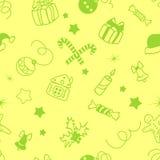 Предпосылка рождества декоративная безшовная Стоковое Изображение RF