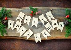 Предпосылка рождества деревенская Стоковое Изображение