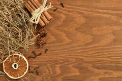 Предпосылка рождества деревянная Стоковые Изображения RF