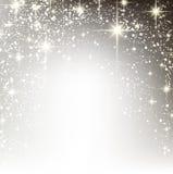 Предпосылка рождества зимы звёздная Стоковые Изображения RF