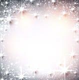 Предпосылка рождества зимы звёздная Стоковые Изображения