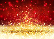 Предпосылка рождества - золотой яркий блеск стоковое изображение