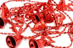 Предпосылка рождества красных колоколов Стоковое Фото