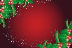 Предпосылка рождества омелы стоковые изображения rf