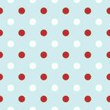 Предпосылка рождества ретро с точками польки в красном цвете  Стоковые Изображения RF