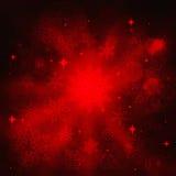 Предпосылка рождества роскошная с снежинками и звездами Стоковые Изображения RF