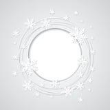 Предпосылка рождества серая с снежинками и plac Стоковые Фото