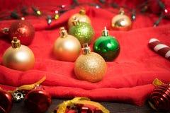 Предпосылка рождества селективного фокуса Стоковое Изображение