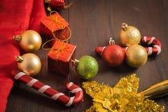 Предпосылка рождества селективного фокуса Стоковая Фотография
