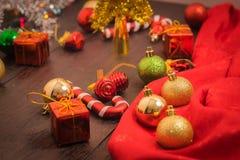 Предпосылка рождества селективного фокуса Стоковые Изображения RF