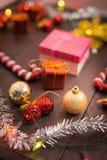Предпосылка рождества селективного фокуса Стоковые Фотографии RF