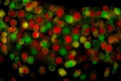 Предпосылка рождества сияющая с светами Стоковые Изображения RF