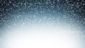 Предпосылка рождества сильного снегопада Стоковые Изображения RF