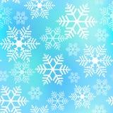 Предпосылка рождества снежинок безшовная Стоковые Фотографии RF