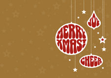 Предпосылка рождества с в стиле фанк орнаментами бесплатная иллюстрация