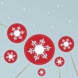 Предпосылка рождества с леденцами на палочке снежинок Стоковое Изображение