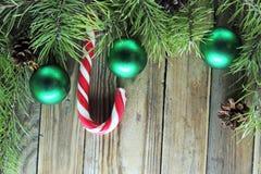Предпосылка рождества с конфетой Стоковое Изображение