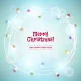 Предпосылка рождества с красочными светлыми гирляндами Стоковое Изображение RF