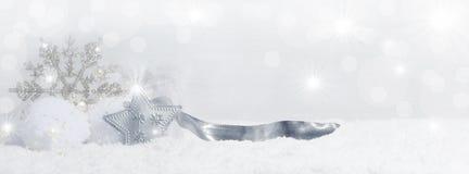 Предпосылка рождества с кристаллами снега Стоковая Фотография RF