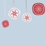 Предпосылка рождества с орнаментами Нового Года Стоковое Изображение RF