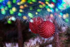 Предпосылка рождества с покрашенным bokeh Стоковое Изображение