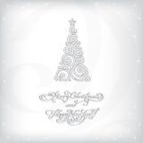 Предпосылка рождества с рождественской елкой Стоковая Фотография