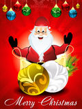 Предпосылка рождества с Сантой иллюстрация штока