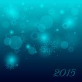 Предпосылка рождества с снежинками и светами Стоковое Изображение