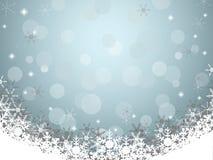 Предпосылка рождества с снежинкой Стоковая Фотография RF