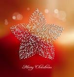 Предпосылка рождества с стилизованным приукрашиванием Стоковая Фотография RF