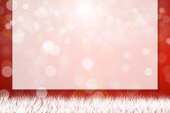 Предпосылка рождества с текстовым полем Стоковые Изображения